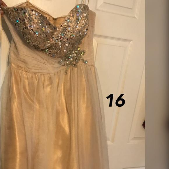 David\'s Bridal Dresses | Cream Prom Dress Ball Gown Bottom | Poshmark